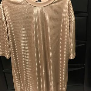 Gold smooth going out shirt